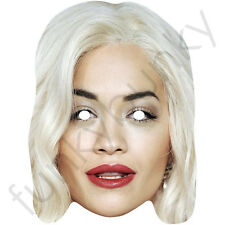 Rita Ora Celebrity Singer and Actress Card Mask - All Our Masks Are Pre-Cut!