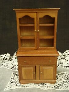 Vintage Shackman Miniture Early American Hutch Handcrafted Wood