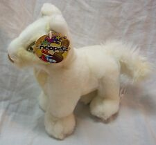 "Neopets 2004 WHITE LUPE 7"" Plush STUFFED ANIMAL Toy NEW w/ TAG"