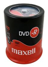 100 Maxell DVD-R Recordable Blank DVD Discs SPINDLE Pack