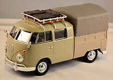 VW Volkswagen T1 Type 2 Crew Cabin With Roof Rack Tarpaulin 1959-67 Light Grey