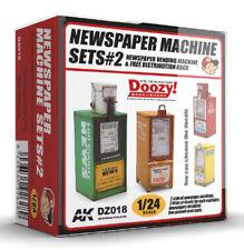 Doozy!  Newspaper Machine Sets 2 Diorama Accessories 1:24 Plastic Model Kit
