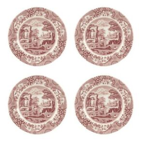 Spode Cranberry Italian 6.5 Inches Plate Red Set of 4