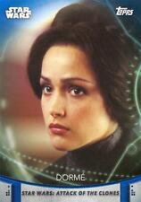 Women of Star Wars (2020) BLUE PARALLEL BASE Card #21 - DORME