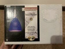 Hampton Bay Dimensions Designer Lighting Blue Frosted Pleated Glass Fixture