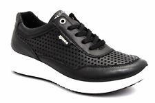 IGI&CO 5162000 NERO Scarpe Sneakers Stringate Pelle Estive Donna Zeppa Traforate