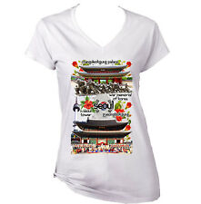 South Korea Seoul - NEW WHITE COTTON LADY TSHIRT