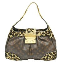 Louis Vuitton Polly M95282 Monogram Leopard One Shoulder Hand Bag Purse Brown LV