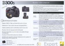 NIKON feuillet technique D300s édition 09/2009 en français