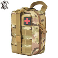 Tactical First Aid Survival Kit Molle EMT Emergency Pouch Bag Medical Rescue MC