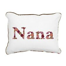 "NANA Pink Floral Rectangular Canvas Pillow Grandmother Gift 12x15"" NIP"