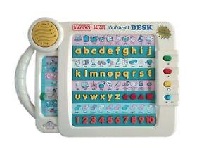 Vtech Talking Little Smart Alphabet Desk Retro Vintage Learning Toy