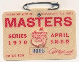 1970 Masters Badge Ticket Augusta National Golf Club Billy Casper Wins