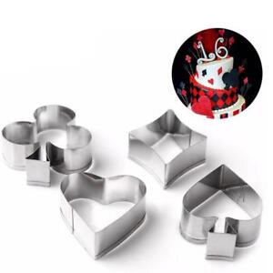 Poker Cookie Cutter Play Card Game Party Gambling Metal Baking Mold Set O3