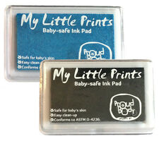 Baby Safe Nontoxic Handprint Footprint Finger Print Ink Pad Black + Blue Combo