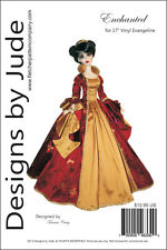 """Enchanted Doll Clothes Sewing Pattern for 17"""" Vinyl Evangeline Ghastly Tonner"""