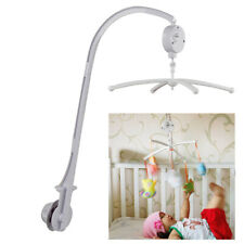 White Baby Crib Mobile Hanging Bed Bell Holder Toy Arm Bracket Wind-up Music Box