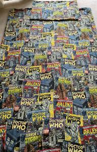 """Official  BBC TV """"DR WHO"""" Single Bed Duvet Cover & Pillowcase - Vintage RARE VGC"""