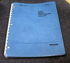 TEKTRONIX 2430 OPERATOR MANUAL