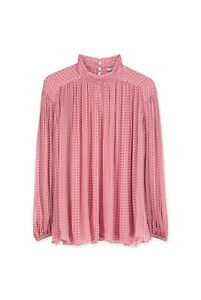 COUNTRY ROAD GATHERED SHEER BLOUSE TOP in Cardamom RRP$159 size 16