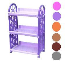 Small Shelf organizer 3 tier Rack for Home Kitchen Desktop Random Colour