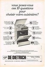 PUBLICITE  1966   DE DIETRICH   cuisinière