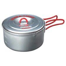 NEW Evernew Titanium Ultralight 0.9l / 900ml Pot w/Lid Cookset ECA252R