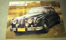 1962 JAGUAR 3.8 Litre  Weetbix Australia Swap Trade Card