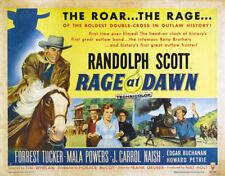 Rage at dawn Randolph Scott  western movie poster print
