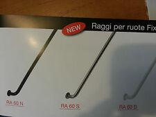 raggi ruote fixed con nipples 266mm conf  36 pezzi colori: bianco silver nero