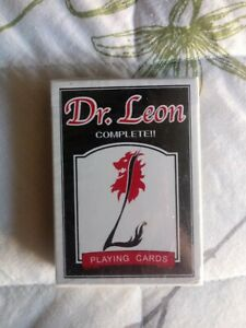 Dr Leon Rare black Playing Cards USPCC