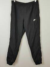 NIKE Mens Size M Black Vaporwave Swoosh Woven Track Pants