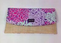 Tarte Flowered Pink Purple Bag Clutch