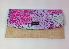 Tarte Flowered Pink Purple Bag Clutch New