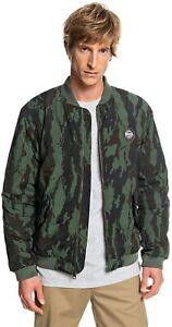 QUIKSILVER Men's Hakata Bay Bomber Jacket Camo Green SIZE LARGE or MEDIUM L M