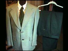 Vintage Mens Ugly Jack Nicklaus Golf Disco Suit Jacket 40 & Pants 32 w/ Neck Tie