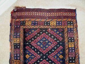 Antique handmade Afghan tribal woven kilim carpet rug runner 72 x 270 cm
