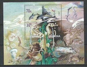 Ukraine 2001 Marine life, Fish MNH Block
