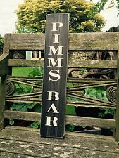 PIMMS BAR Pub BBQ sign plaque Party Gift Vintage Look Old GARDEN SHED