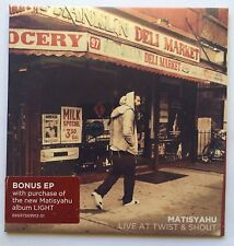"""Matisyahu """"Live At Twist & Shout"""" Limited Edition Bonus EP Roots Reggae NEW S/S"""