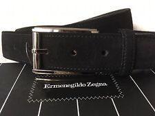 Cinturón en auténtico cuero ~ Ermenegildo Zegna ~ negro ~ 105cm ~ nuevo ~ con platinsch.