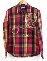 Desigual Hombre Iris Cuadros Camisa Informal Talla L NZ685