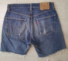 Levis *Big E 501* Authentic Jeans Shorts Vintage Rare High Waisted Hotpants 29w