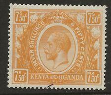KENYA & UGANDA  SG 93  1922/7  7s50 ORANGE YELLOW   VERY FINE MOUNTED MINT