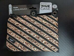ZIPIT Metallic Pencil Case - Rose Gold