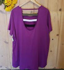 Avenue Leisure Plus Size Womens Clothing Purple Top Blouse NWT 22/24 cutout back