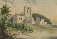 Late 19th Century Watercolour - Tranquil Landscape with Church