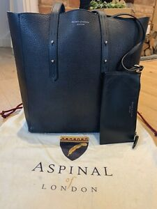 Aspinal Of London Essential A Pebble Leather Tote Bag Black RRP £295