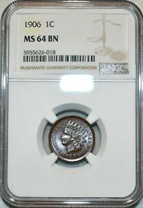 1906 INDIAN HEAD CENT NGC MS 64 BN WELL STRUCK GREAT CHOICE APPEAL