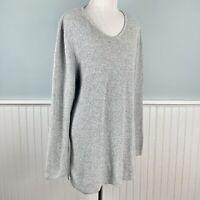 Size 1X Karen Scott Gray 100% Cotton Knit Tunic Sweater Top Women's Plus NWT New